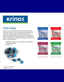 Krinos Ouzo Candy panel