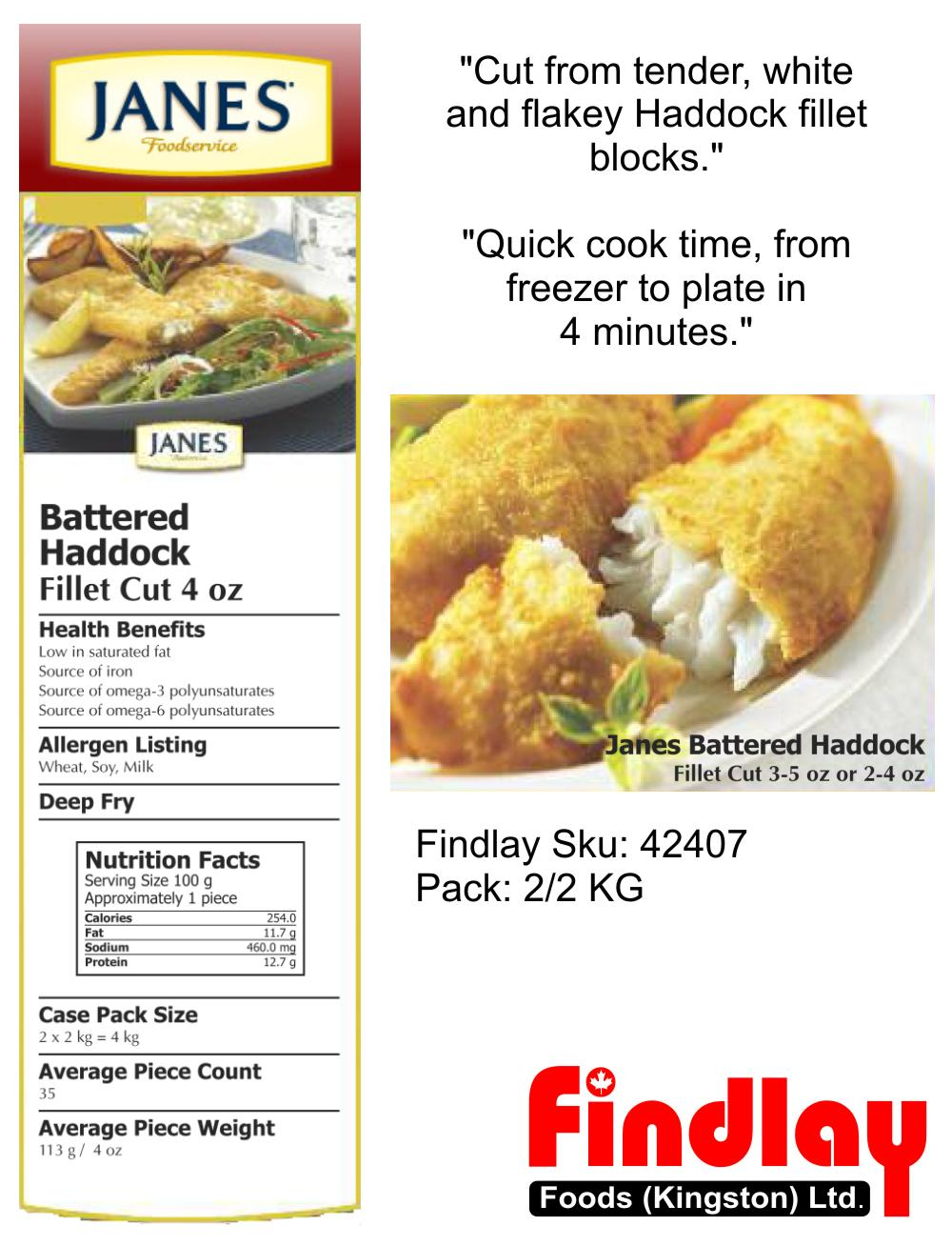 Whats New - Janes Battered Haddock