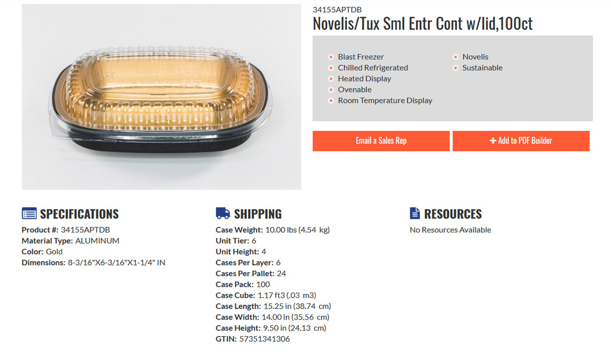 What's New - Novelis Entree Container