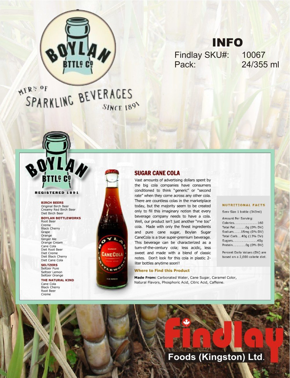 What's New - Boylan Sugar Cane Cola, New at Findlay Foods