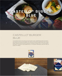 whats new Castello Blue burger panel